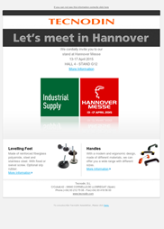 Newsletter Hannover Fair 2015