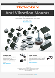 Newsletter Antivibrations mounts